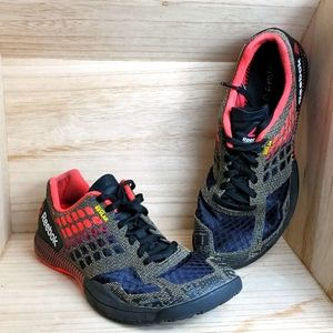Reebok Womens Red and Black Crossfit Shoes